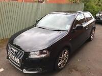 Audi A3 black S line 3 door
