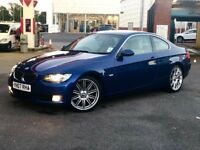 "Unique Blue BMW 330 Gorgeous light leather,19"" alloys,121K full history ,long Mot 2keys"