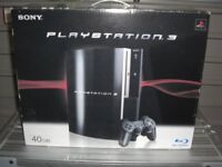 PS3 Console with 500 gb Disc and camera.