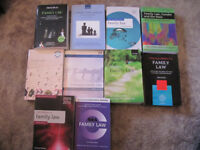 Bundle of 10 Family Law Books - Law Degree/LPC - £40 ono
