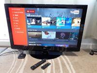 "LG 42"" Full HD 1080p LCD TV + Android Smart TV Box ( YouTube, Wi-Fi )"