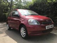 TOYOTA YARIS 1.0 **2003** ONLY DONE 35K**MOT EXPIRES APRIL 2019** 1 OWNER FROM NEW** IDEAL 1ST CAR**