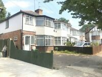 WEST DRAYTON UB7 - 3 BEDROOM HOUSE - UNFURNISHED - GARDEN - PARKING - ONLY £1499