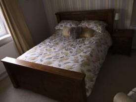 Barker & stonehouse kingsize bed & side table