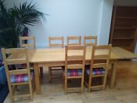 Oak furniture and leather chair