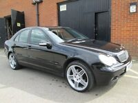 MERCEDES C CLASS BLACK FULL LEATHER NEW WHEELS Part exchange available / Credit & Debit cards accept