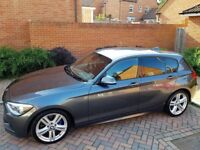 BMW MSPORT 118, grey, excellent condition,taxed last week, NEW MOT this week