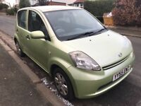 DIAHATSU SIRION 1.3 S 5 DOOR HATCHBACK 2005 55 PLATE MOT AUGUST 2018 ONE OWNER FOM NEW