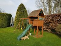 Children's climbing frame, swings and slide