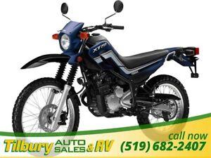 2017 Yamaha XT250 249cc, 2-valve, 4-stroke single.