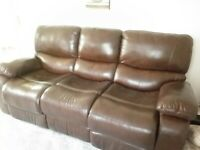 Leather 3 pce Suite