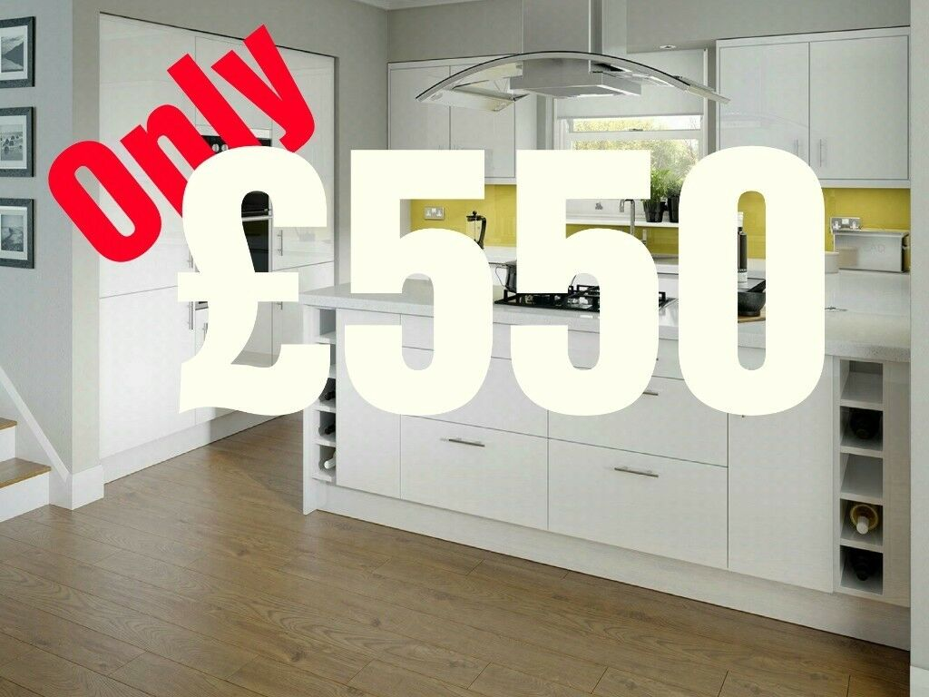 7 Piece Kitchen Units - White High Gloss - BRAND NEW only £550 | in ...