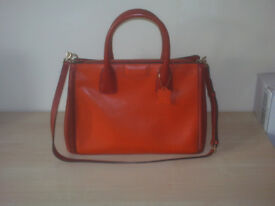 BRAND NEW HAWES AND CURTIS AMELIA BOWLING HANDBAG CORAL RED
