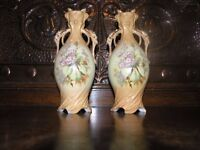 Pair Antique Victorian Vases Weymouth Free Local Delivery