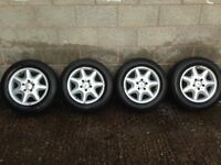 195/65/15 Mercedes alloy wheels with 4 good tyres