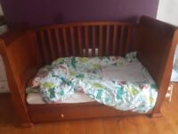 Sleigh cotbed with mama's & Papas mattress