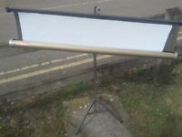 projector screen classic vintage good working order, 4ft wide approx