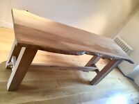 Bespoke Solid Elm Refectory Table