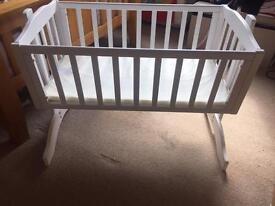 Swinging crib - White