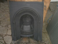 GEORGIAN RESTORED FIREPLACE WITH SLATE / MARBLE SURROUND