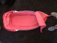 Flamingo pink colour quinny carry cot