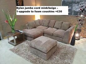 *1 YEAR WARRANTY*DYLAN JUMBO CORD CORNER OR 3+2**EXPRESS DELIVERY**MADE IN UK**