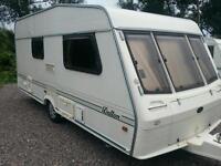 Bessacarr caravan with awning