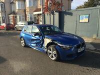 2013 63 BMW 1 SERIES 120D M SPORT MANUAL 33K MILES F20 DAMAGED REPAIRABLE SALVAGE CAT D