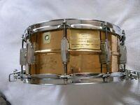 "Ludwig 75th Anniversary Bronze Supersensitive snare drum - 14 x 6 1/2"" - #23- 1984 - rare drum"