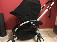 a bugaboo bee in good condition included a rain cover and footmuff