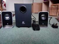 LOGITECH LS21 PC 2.1 Stereo Speaker System - Black/Silver.