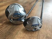 Left Handed TaylorMade SLDR driver and 3 Wood