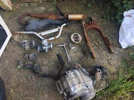 Pit bike parts and 50cc engine
