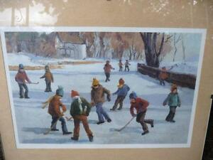 """Vintage Print """"The Game"""" Attributed to Frank Panabaker"""