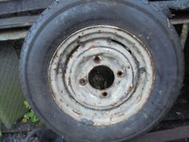 "Old 13"" Trailer Wheel"