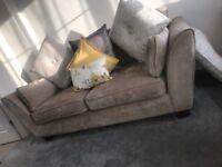 Sofa + arm chair
