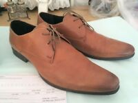 MEN'S SMART DERBY SHOES, RIVER ISLAND SIZE 10 cost £40 with receipt sell £8