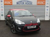 Citroen DS3 DSTYLE (RED) FREE MOT'S AS LONG AS YOU OWN THE CAR!!! (black) 2013