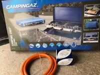 Campingaz two ring gas stove and grill