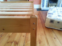 Double Bed Frame - wooden and like new