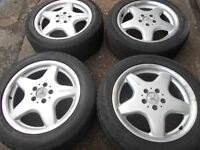 "17"" GENUINE AMG MERCEDES ALLOY WHEELS / TYRES"