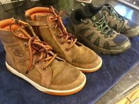 Boys Timberland Boots & Walking Boots both Size 4