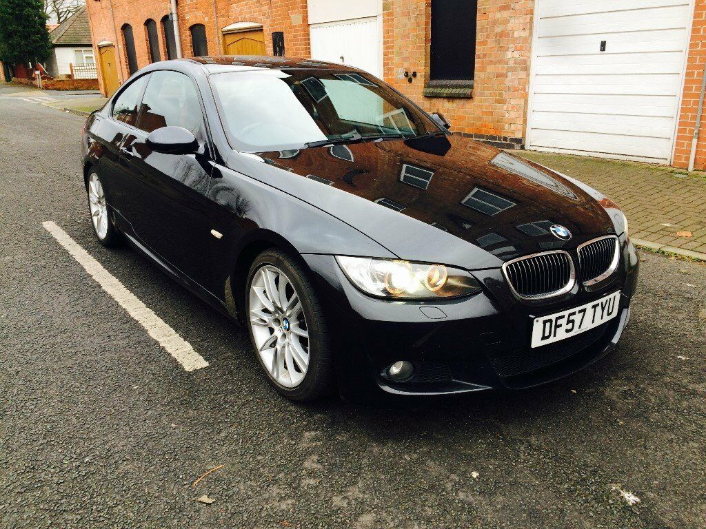 2008 57 bmw 335d m sport coupe auto black sapphire red leathers hpi clear in forest fields. Black Bedroom Furniture Sets. Home Design Ideas
