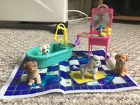 Retro Littlest Pet Shop Splash Happy Puppies Playset 1993