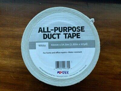 10 Rolls White Duct Tape - 1.88 Width X 60 Yard Length - White - 48mm X 54.8m