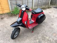 Vespa PX125 with Mallosi 166 kit really great scooter with Lambretta front mudguard!!