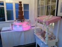 CHOCOLATE FOUNTAIN HIRE WITH CANDY CART ESSEX HERTFORDSHIRE LONDON SUFFOLK CAMBRIDGESHIRE NORFOLK