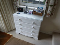 Chest of drawers with Glass Top.