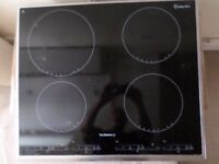 BLACK INDUCTION HOB IN EXCELLENT CONDITION