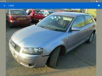 2004 AUDI A3 8P 1.9TDI 5 SPEED MANUAL AKOYA SILVER DOOR BONNET LIGHT ALLOYS WING TURBO AIRBAG